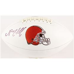 Nick Chubb Signed Browns Logo Football (Radtke COA)