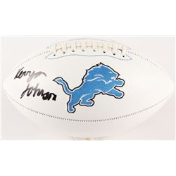Kerryon Johnson Signed Lions Logo Football  (Radtke COA)