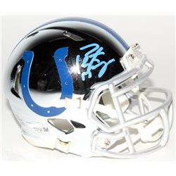 Peyton Manning Signed Colts Chrome Mini Speed Helmet (Fanatics Hologram)