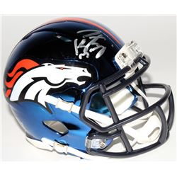 Peyton Manning Signed Broncos Chrome Mini Speed Helmet (Fanatics Hologram)