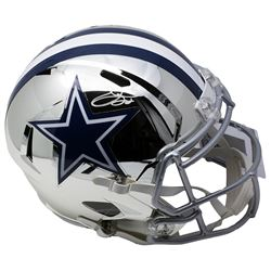 Emmitt Smith Signed Cowboys Full-Size Chrome Speed Helmet (Beckett  Prova COA)