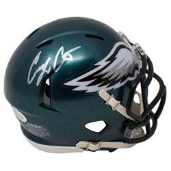 Corey Clement Signed Eagles Speed Mini-Helmet (JSA COA)