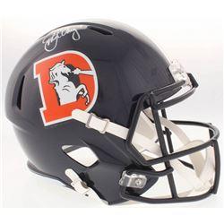 John Elway Signed Broncos Full-Size Color Rush Speed Helmet (Radtke COA)