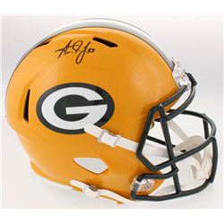 Aaron Jones Signed Packers Full-Size Speed Helmet (Radtke COA)