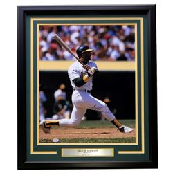 Reggie Jackson Signed Athletics 22x27 Custom Framed Photo Display (PSA COA)