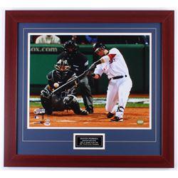 Dustin Pedroia Signed Red Sox 25.5x27.5 Custom Framed Photo Display (PSA COA)