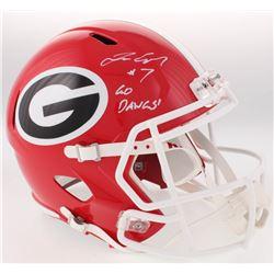 "Lorenzo Carter Signed Georgia Bulldogs Full-Size Speed Helmet Inscribed ""Go Dawgs!"" (Radtke COA)"