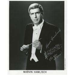 """Marvin Hamlisch Signed 8x10 Photo Inscribed """"The Way We Were"""" with Music Note Sketch (JSA Hologram)"""