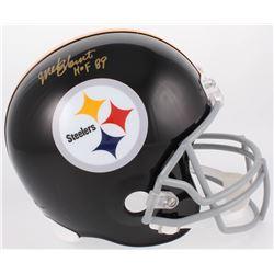 "Mel Blount Signed Steelers Full-Size Throwback Helmet Inscribed ""HOF 89"" (JSA COA)"
