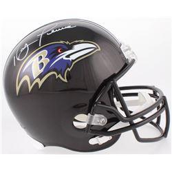 Ray Lewis Signed Ravens Full-Size Helmet (Beckett COA)