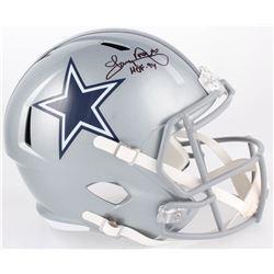 "Tony Dorsett Signed Cowboys Full-Size Speed Helmet Inscribed ""HOF '94"" (Beckett COA)"