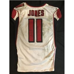 """Julio Jones Signed Falcons 50th Anniversary Game-Used Jersey Inscribed """"Game Worn 12-16 VS Tampa"""" wi"""