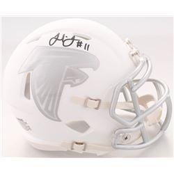 Julio Jones Signed Falcons White ICE Speed Mini Helmet (JSA COA)