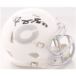 Roquan Smith Signed Bears White ICE Speed Mini Helmet (Beckett COA)