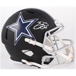 Emmitt Smith Signed Cowboys Full-Size Custom Matte Black Speed Helmet (Beckett COA  PROVA COA)