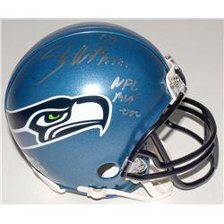 "Shaun Alexander Signed Seahawks Mini Helmet Inscribed ""NFL MVP 05"" (Beckett COA)"