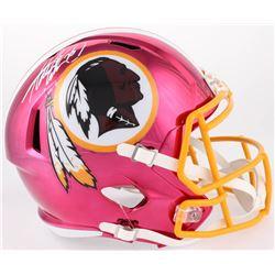 Adrian Peterson Signed Redskins Full-Size Chrome Speed Helmet (Beckett COA)
