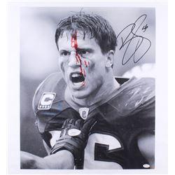 Brian Cushing Signed Texans 21x26 Photo On Canvas (JSA COA)