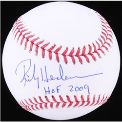 "Rickey Henderson Signed OML Baseball Inscribed ""HOF 2009"" (JSA COA)"