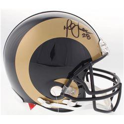 Marshall Faulk Signed Rams Full-Size Authentic On-Field Helmet (JSA COA)