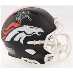 John Elway Signed Broncos Custom Matte Black Speed Mini-Helmet (JSA COA)