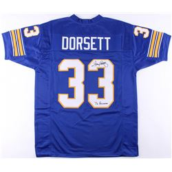 "Tony Dorsett Signed Pittsburgh Panthers Jersey Inscribed ""76 Heisman"" (JSA COA)"