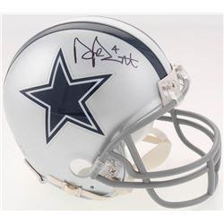 Dak Prescott Signed Cowboys Mini Helmet (Beckett COA  Prescott Hologram)