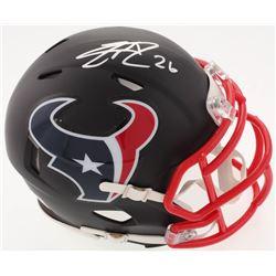 Lamar Miller Signed Texans Custom Matte Black Speed Mini-Helmet (JSA COA)