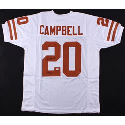 Earl Campbell Signed Texas Longhorns Jersey Inscribed  HT 77  (JSA COA)