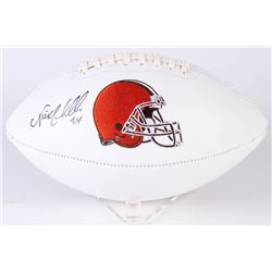 Nick Chubb Signed Browns Logo Football (JSA COA)