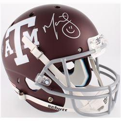 Michael Bennett  Martellus Bennett Signed Texas AM Aggies Full-Size Helmet (JSA COA)