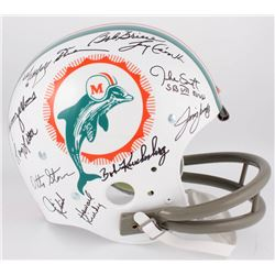 1972 Dolphins Throwback Suspension Full-Size Helmet Team-Signed by (27) with Bob Griese, Jake Scott,
