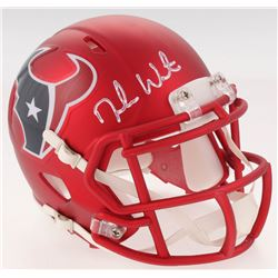Deshaun Watson Signed Texans Blaze Speed Mini Helmet (JSA COA  Watson Hologram)