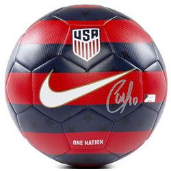 Christian Pulisic Signed 2018 Nike USA Prestige Soccer Ball (Panini COA)