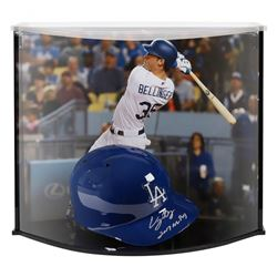 "Cody Bellinger Signed LE Dodgers Full-Size Batting Helmet Inscribed ""'2017 MVP"" with Custom Acrylic"