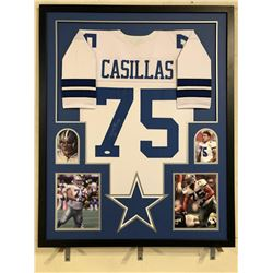 Tony Casillas Signed Cowboys 34x42 Custom Framed Jersey (JSA COA)