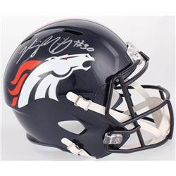 Phillip Lindsay Signed Broncos Full-Size Speed Helmet (JSA COA)