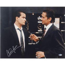 """Charlie Sheen Signed """"Wall Street"""" 16x20 Photo (Beckett COA)"""