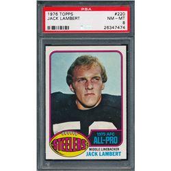 1976 Topps #220 Jack Lambert AP RC (PSA 8)