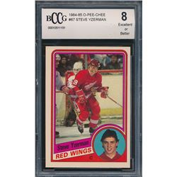 1984-85 O-Pee-Chee #67 Steve Yzerman RC (BCCG 8)