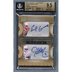 2011 Exquisite Collection Choice Signatures #NNO Dual Holder Earl Campbell / Eric Metcalf (BGS 9.5)