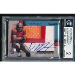2012 Topps Strata Clear Cut Rookie Relic Autographs Blue Patch #CCARDM Doug Martin RC (BGS 9)