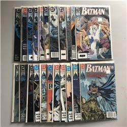 """Lot of (114) 1990-1998 """"Batman"""" DC Comic Books"""