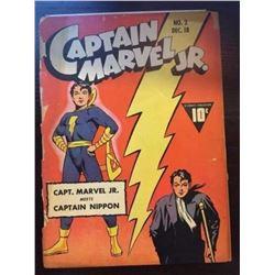 1942 Captain Marvel Jr. #2 Golden Age Comic Book