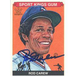 Rod Carew Signed LE 2012 Sportkings #216 (Leaf COA)