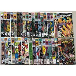 Lot of (37) 1990-1993 Marvel Spider-Man Comic Books
