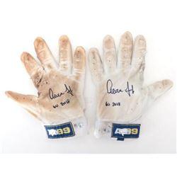 "Pair of (2) Aaron Judge Signed Game-Used Batting Gloves Inscribed ""GU 2018""  (Fanatics Hologram  MLB"