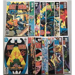 Lot of (14) 1980-86 DC Batman Comic Books