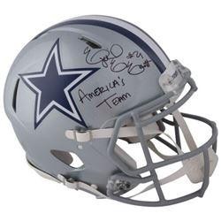"Ezekiel Elliott Signed Cowboys Full-Size Authentic On-Field Speed Helmet Inscribed ""America's Team"""