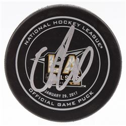 Connor McDavid Signed 2017 All-Star Game Logo Hockey Puck (JSA Hologram)
